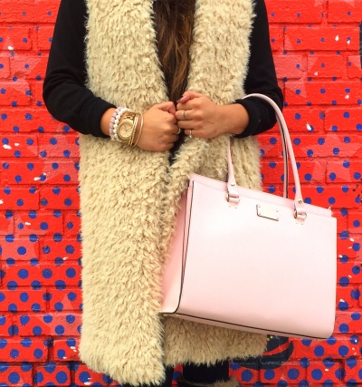 How to style fur vest outfit 8