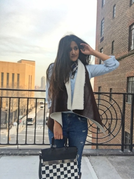 Faux Shearling Vest Outfit 7