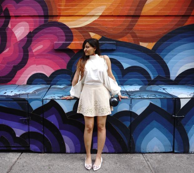 Spring Outfit 2017 - Shoulder Slit Top copy