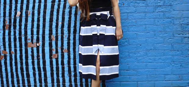 summer Trends Paperbag Midi SKirt Outfits 3