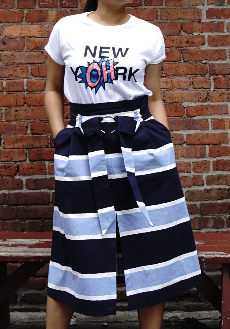 summer Trends Paperbag Midi SKirt Outfits 9
