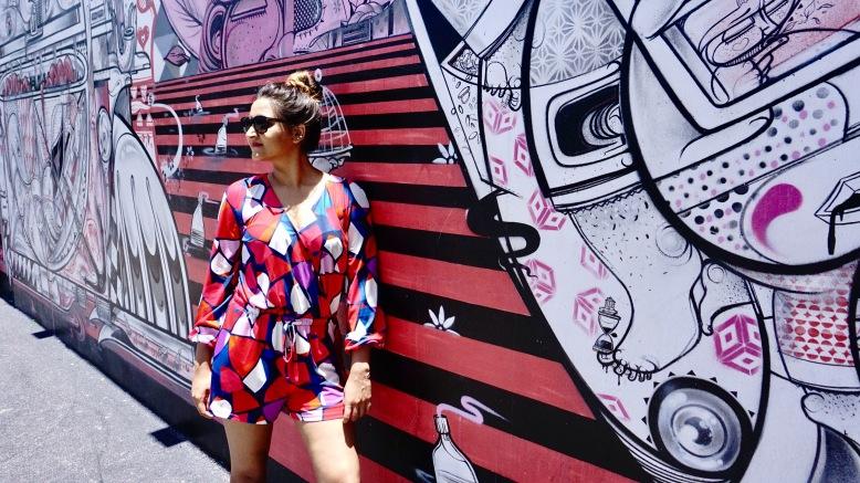 Geometric print Dress Cuddy Studio 3