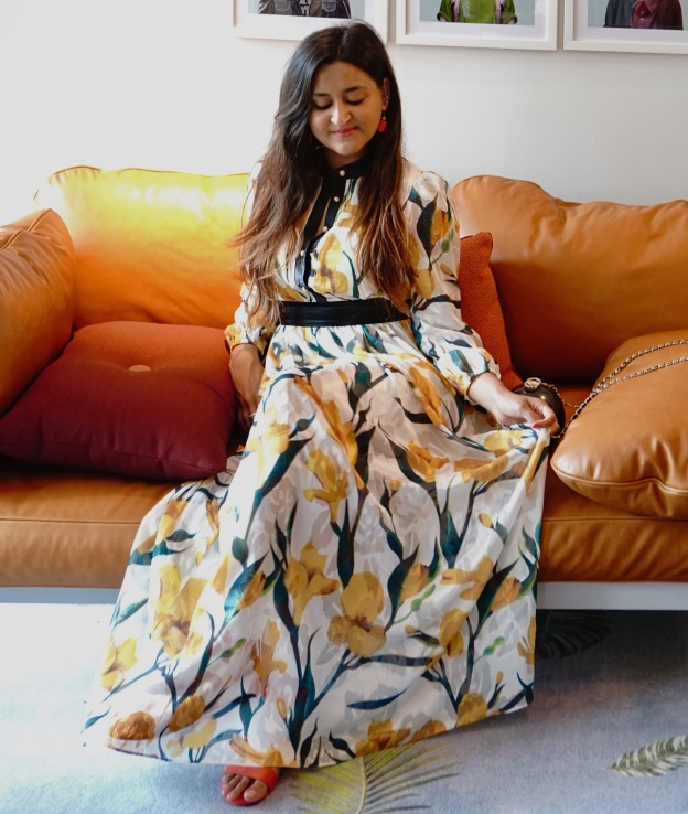 Long Sleeves Floral Maxi Dresses Outfit 5