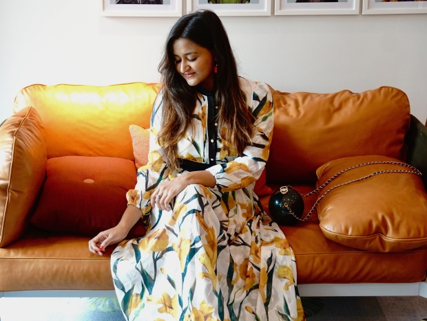 Long Sleeves Floral Maxi Dresses Outfit 6