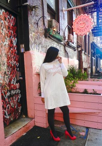 How to Wear a Sweatshirt dress 1