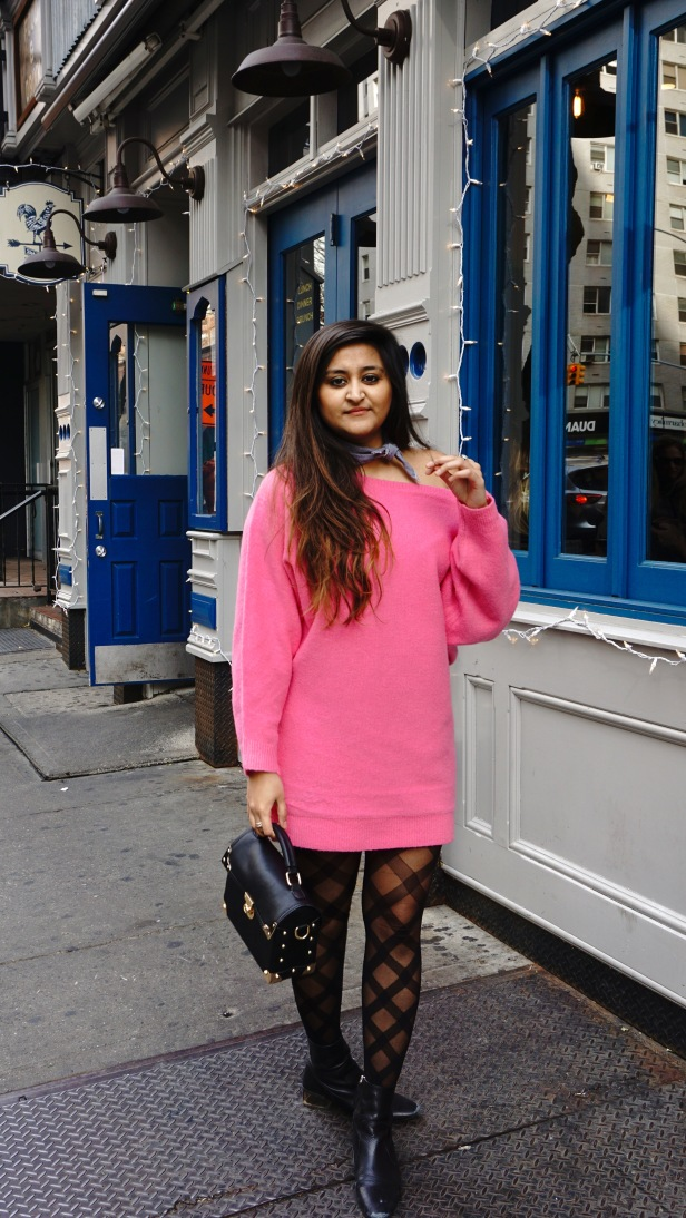 Winter Fashion Trends Bright Sweaters 1