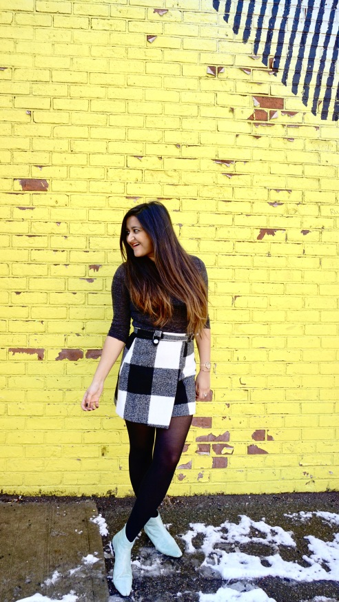 Winter Outfit ideas with Asymmetrical Skirt 2