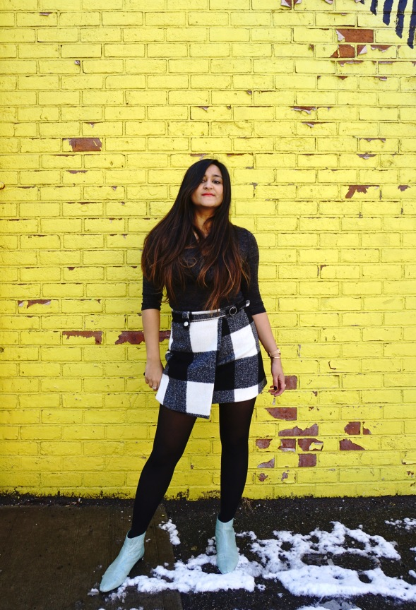 Winter Outfit ideas with Asymmetrical Skirt 5