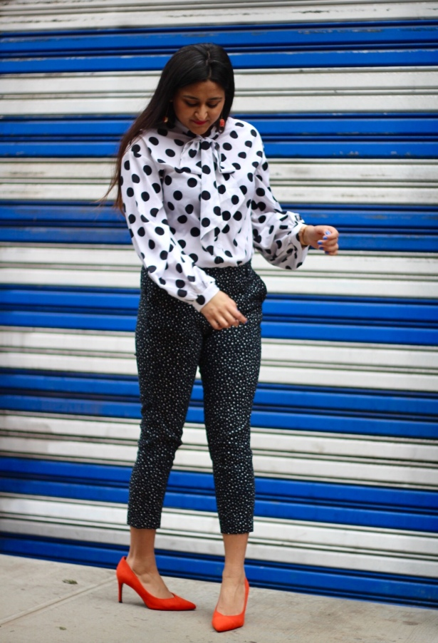 How to Wear Polka Dots 4