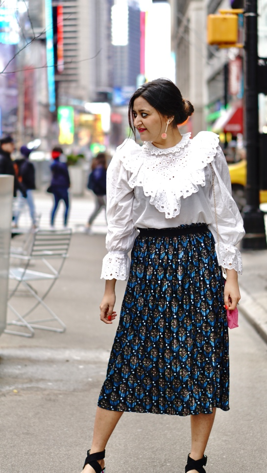 Spring Outfit with Victorian White Shirt 1