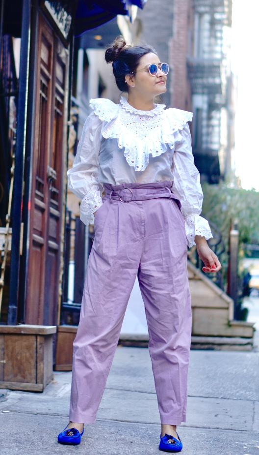 Spring Outfit with Victorian White Shirt 3
