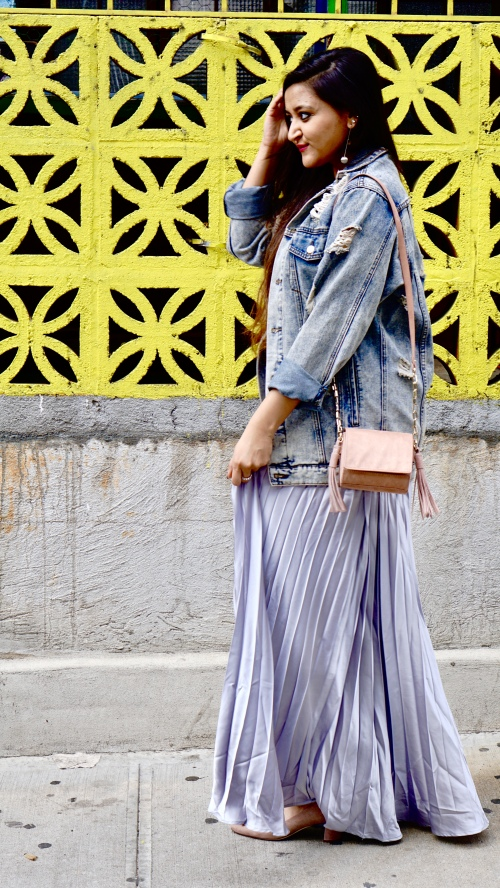 How to wear pleated skirt 2