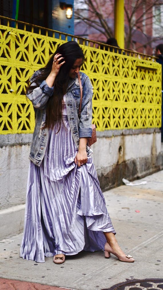 How to wear pleated skirt 4