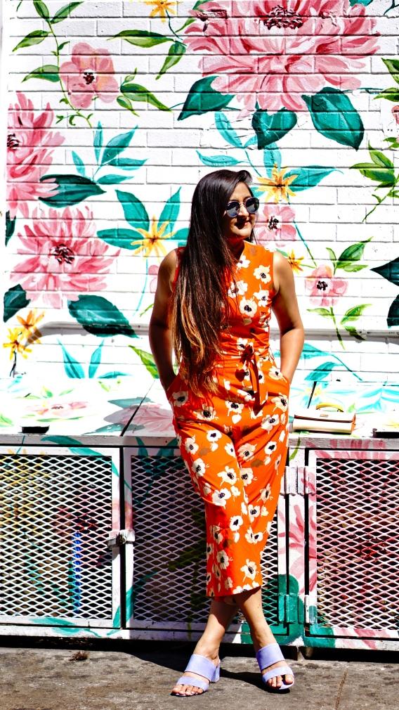 Floral Jumpsuit outfit 1