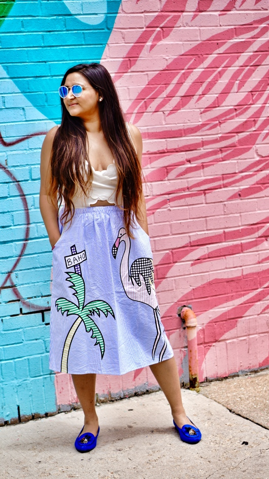 Printed Skirt Outfit 2