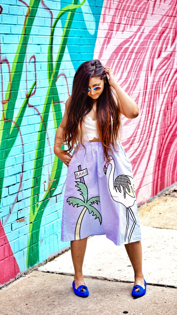 Printed Skirt Outfit 4