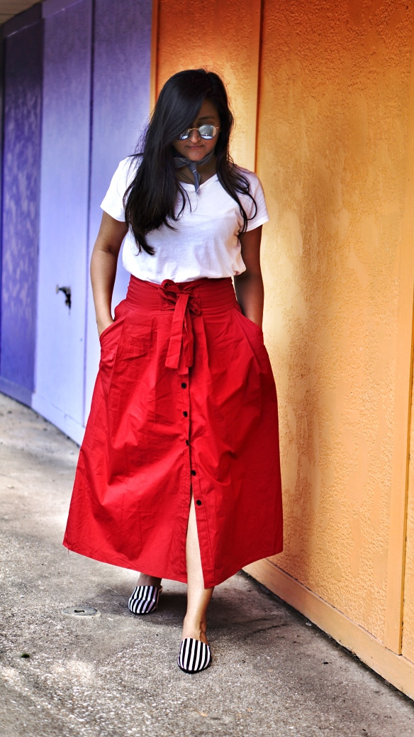How to style skirt outfit 2
