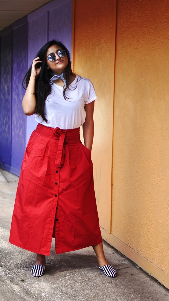 How to style skirt outfit 3