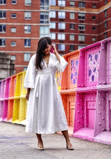 How to wear kimono dress outfit 5