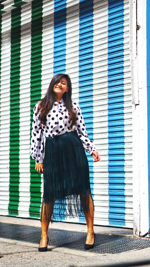 Tiered Fringed Skirt Fall Outfit 1