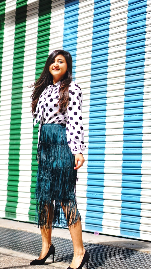 Tiered Fringed Skirt Fall Outfit 2