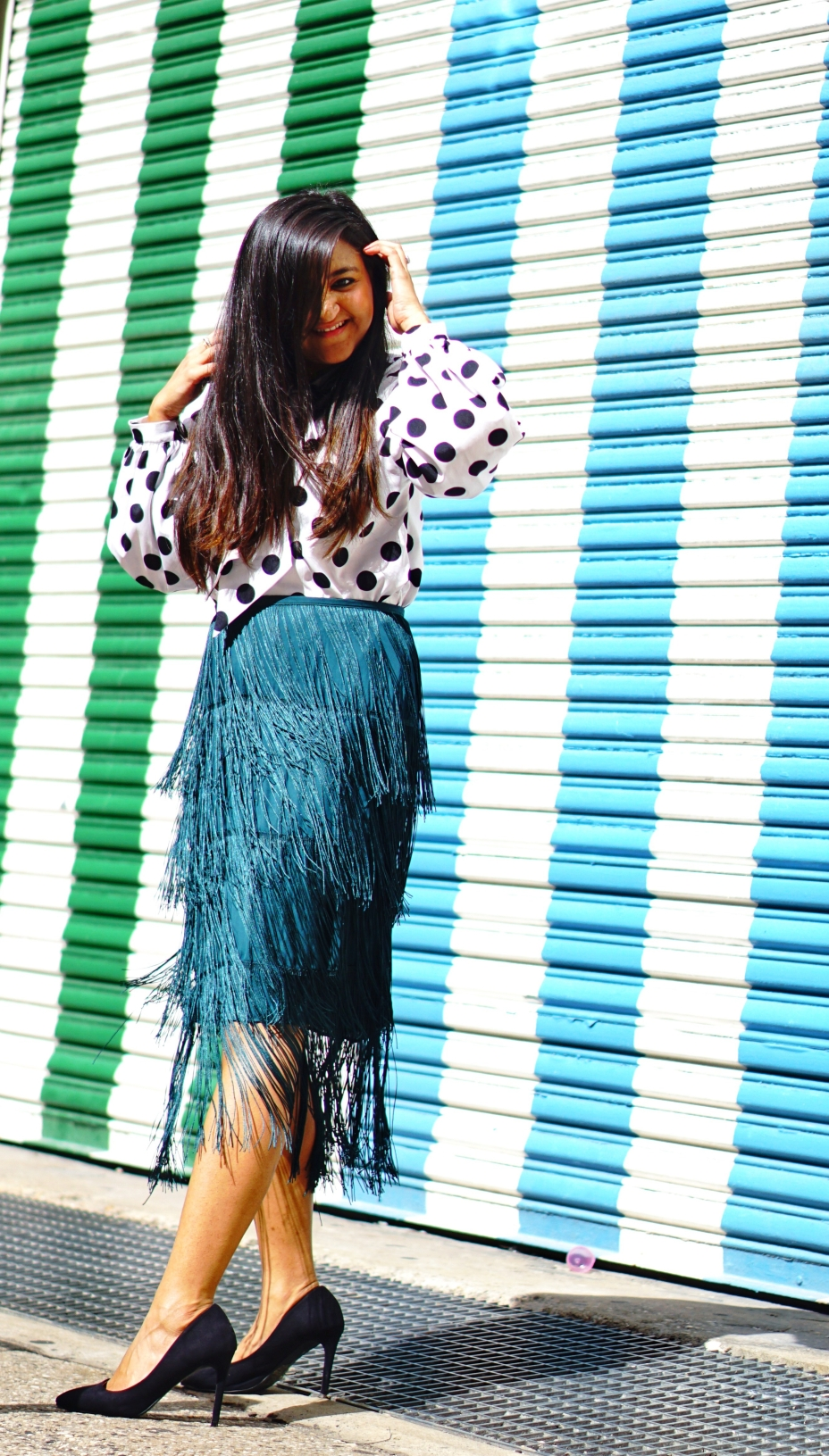 Tiered Fringed Skirt Fall Outfit 4