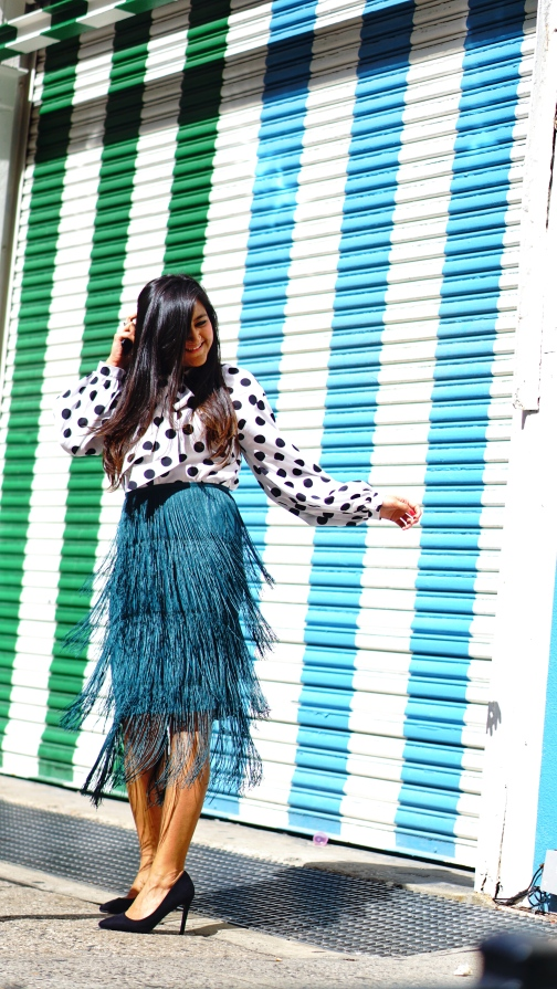 Tiered Fringed Skirt Fall Outfit 5