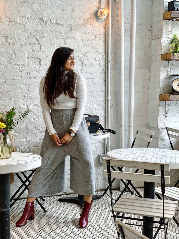 Fall Outfit with Wide Leg Pants 1