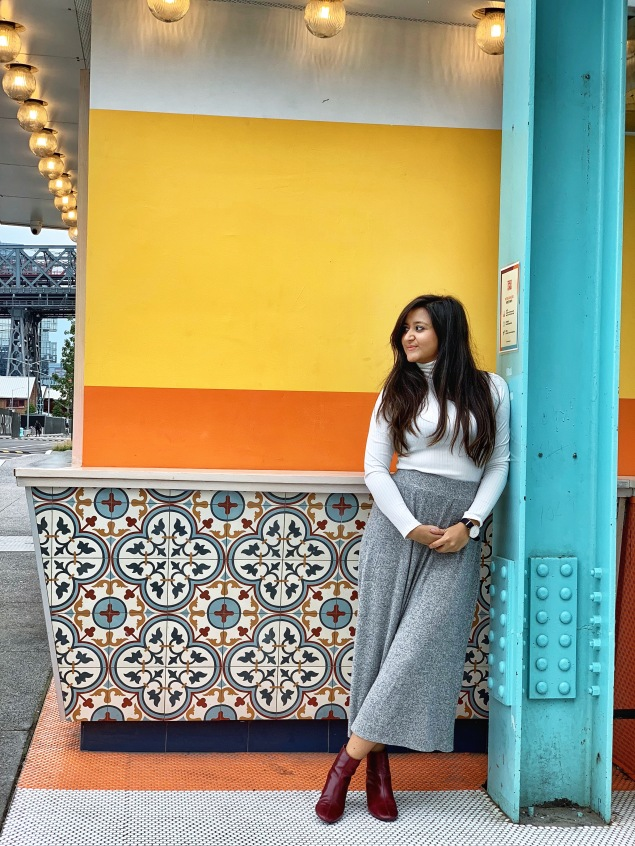 Fall Outfit with Wide Leg Pants 4