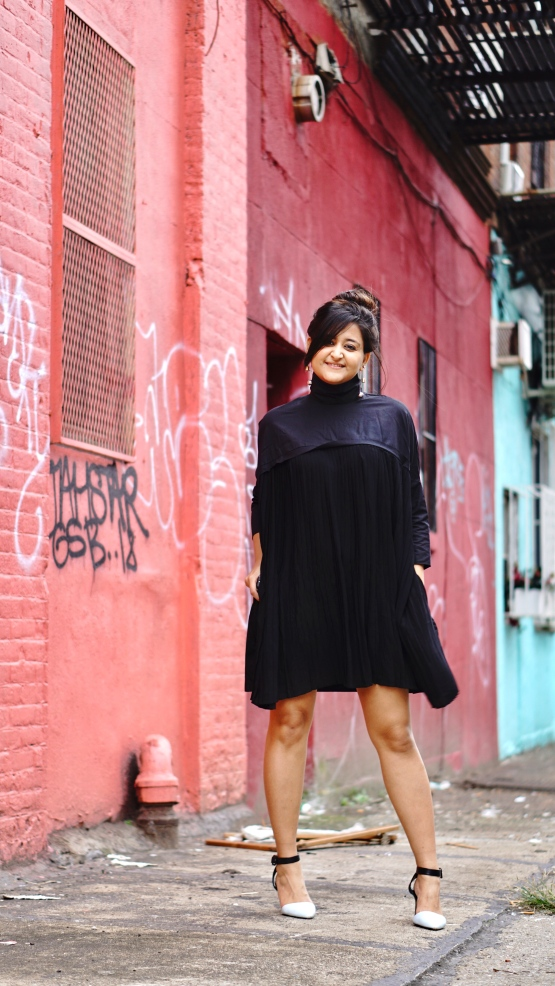 Pleated Shirt Dress Outfit 3