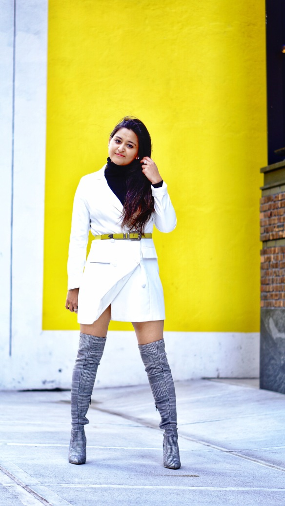 Blazer Dress Winter Outfit 3