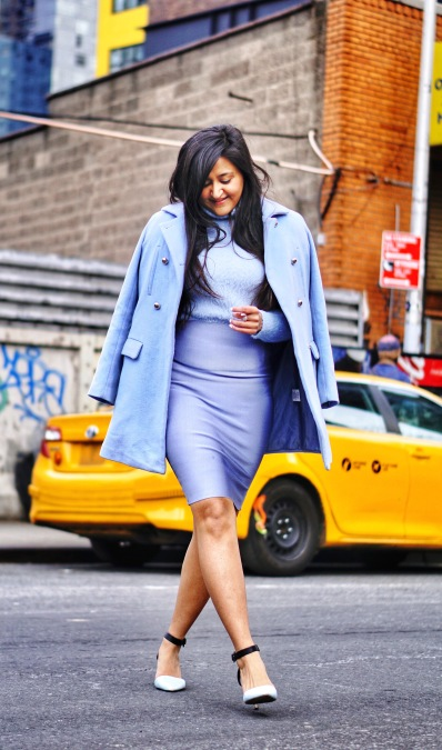 how to style a monochromatic outfit in winter 7
