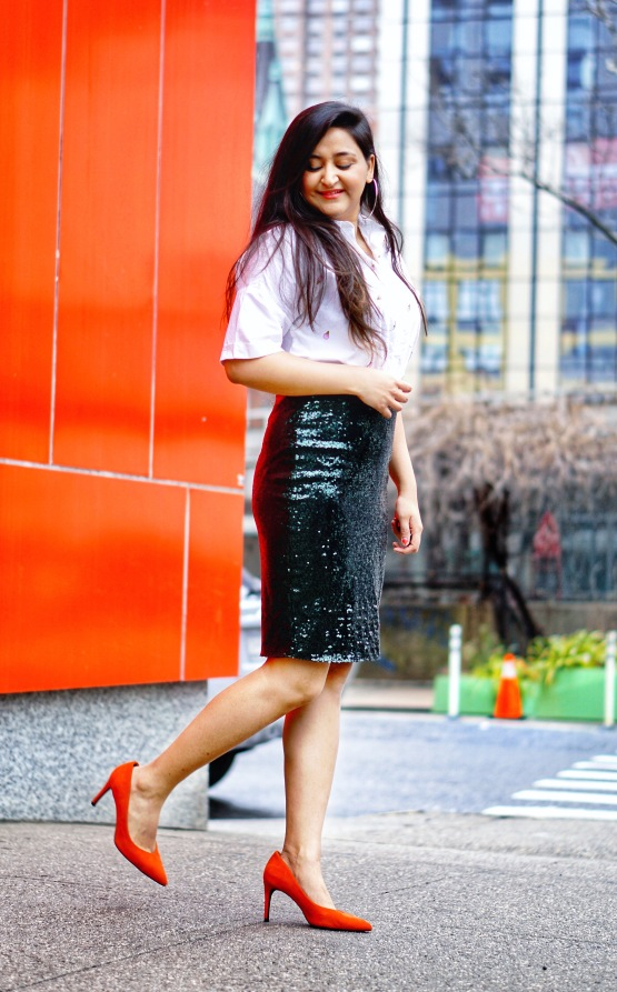 Sequin Skirt Outfit Idea 3
