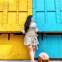 Colorblocking Summer Outfit || Colorful Places in New York at Industry City 4