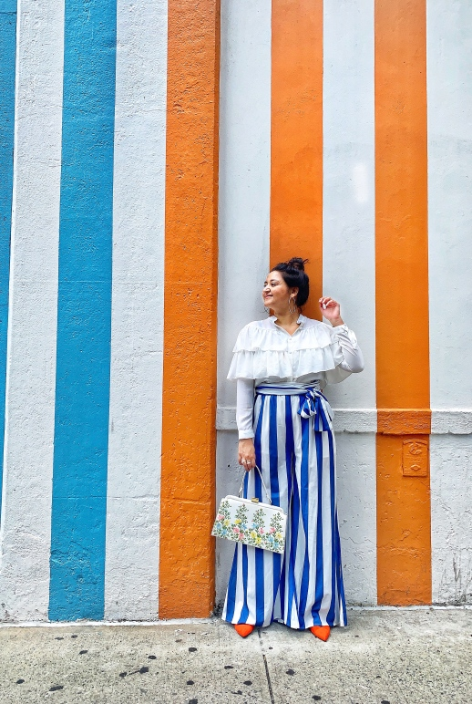 Striped wide Leg Outfit For Summer 2