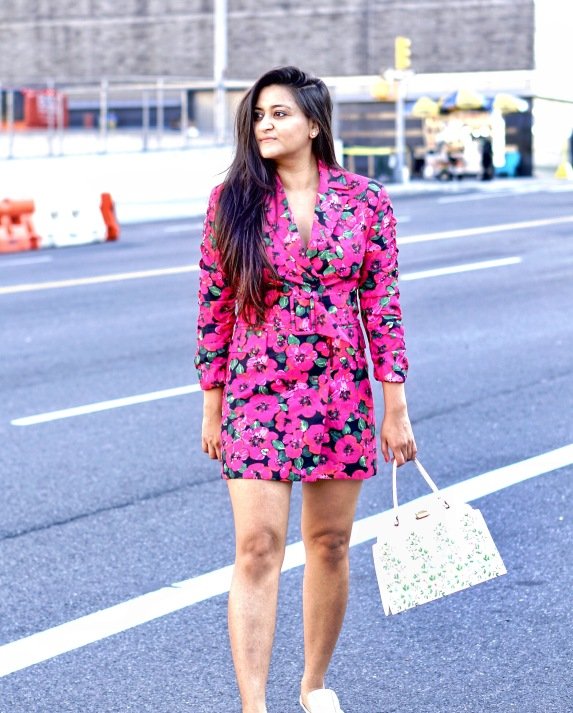 Floral Blazer Dress outfit 1