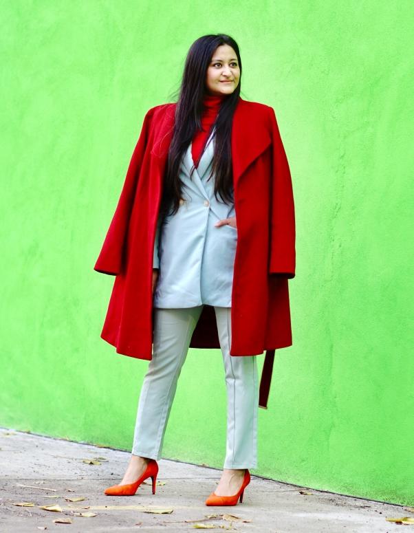 Blazer Pantsuit Outfit Ideas 1